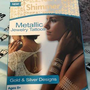 Metallic body tattoo kit